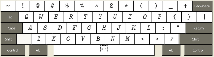 APL keyboard used by APLOxy